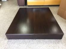 全新胡桃標準雙人5x6.2尺床箱雙人床架全新