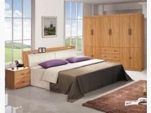 [全新] 香柚木色5尺床頭箱特價$5800雙人床架全新