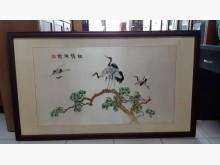 [9成新] 中國手工刺繡松鶴延齡圖字畫無破損有使用痕跡