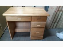 [全新] 3.2尺赤楊色半實木書桌書桌/椅全新