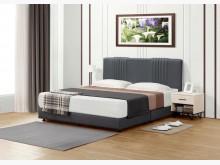 [全新] 丹爾深灰色貓抓皮6尺床片+床底雙人床架全新
