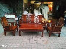 [9成新] 花梨木沙發組木製沙發無破損有使用痕跡