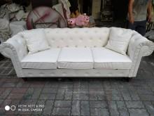 [全新] 全新歐式白色皮沙發長215寬80多件沙發組全新
