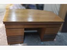 [9成新] 柚木色七抽辦公桌 主管桌 洽談桌辦公桌無破損有使用痕跡