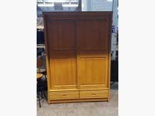 [9成新] 原木色五尺滑門衣櫃 推門衣櫃衣櫃/衣櫥無破損有使用痕跡