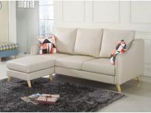 [全新] 沃特斯L型貓抓皮沙發$16800L型沙發全新