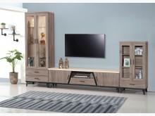 [全新] 古橡木仿石10尺L型櫃21000電視櫃全新