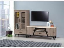 [全新] 古橡木仿石面6尺L型櫃10600電視櫃全新