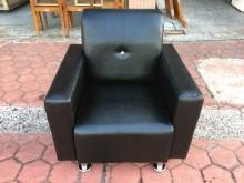 [全新] 全新精品黑色鱷魚皮鑲鑽一人座沙發單人沙發全新