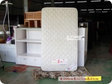 4尺緹花單人特大獨立筒床墊單人床墊無破損有使用痕跡