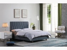 [全新] 箱根藍色5尺床台雙人床架全新