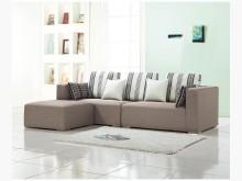 [全新] 歐瑞克深灰色L型布沙發L型沙發全新