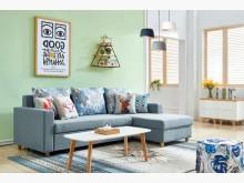 [全新] 歐亞功能L型布沙發(淺灰色)L型沙發全新