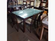 [9成新] 強化玻璃餐桌+6椅餐桌無破損有使用痕跡