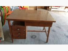 [9成新] 早期老件檜木貼皮事務桌桌子無破損有使用痕跡