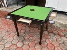 全新胡桃色高級休閒麻將桌(可折合麻將桌全新