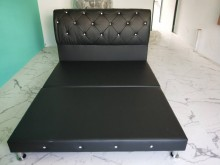 非凡丹尼爾法式5尺珍珠黑水鑽床組雙人床架全新