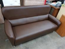 [全新] 毅昌二手家具~全新咖啡色三人沙發雙人沙發全新