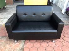 [全新] 全新精品黑色鱷魚皮鑲鑽二人座沙發雙人沙發全新