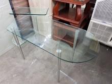 [9成新] 毅昌二手家具~造型玻璃辦公工作桌辦公桌無破損有使用痕跡