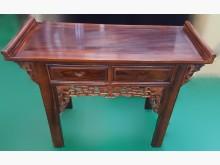 [9成新] LG40410*雞翅木2抽玄關桌其它桌椅無破損有使用痕跡