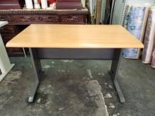 非凡二手家具120cm木紋辦公桌衣櫃/衣櫥無破損有使用痕跡