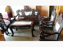 00032紅木龍型雕刻8件木沙發木製沙發無破損有使用痕跡