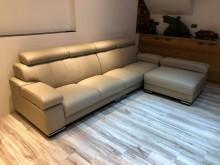 [全新] BC822CE*全新半牛皮加厚LL型沙發全新