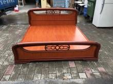 快樂福二手倉庫實木雙人加大組合床雙人床架無破損有使用痕跡