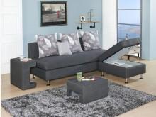 [全新] 福斯L型灰色布沙發*可變換左右向L型沙發全新