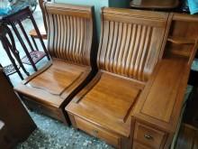 [9成新] 樟木L型沙發組+多功能茶几木製沙發無破損有使用痕跡