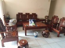 [9成新] 花梨螺鈿客廳8件組椅子無破損有使用痕跡