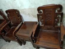 [9成新] 紫檀客廳10件組椅子無破損有使用痕跡