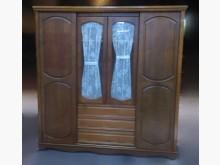 [8成新] A0604BHJJ柚木色7尺衣櫃衣櫃/衣櫥有輕微破損