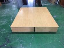 東鼎 木紋5尺標準雙人床底#30雙人床架無破損有使用痕跡
