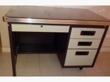 [95成新] 辦公鐵桌附桌面玻璃辦公桌近乎全新