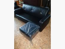 00355-L型皮沙發(黑色)L型沙發全新