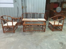 [9成新] 00393-頂級花梨木圈椅木製沙發無破損有使用痕跡