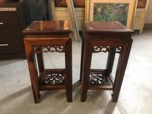 大慶二手家具 花台架(一對)其它家飾無破損有使用痕跡