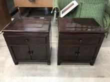 [9成新] 大慶二手家具 黑檀木置物櫃(一對收納櫃無破損有使用痕跡