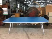 大慶二手家具 藍色會議桌會議桌無破損有使用痕跡