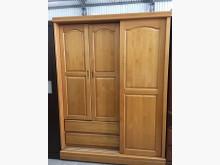 [9成新] 赤楊木色多功能衣櫃(有鏡)衣櫃/衣櫥無破損有使用痕跡