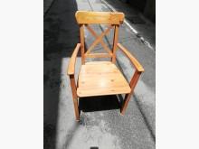 [8成新] 實木有扶手椅書桌/椅有輕微破損