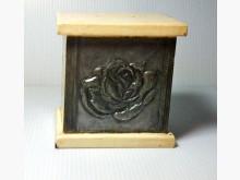 錫雕存錢筒 木製品 錫雕其它家庭雜貨有輕微破損