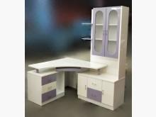 [8成新] E82411*白色L型書桌 *書桌/椅有輕微破損