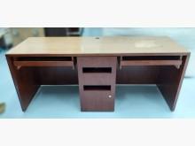 [8成新] E82004*紅木色電腦桌*電腦桌/椅有輕微破損