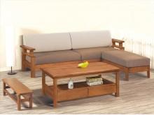 [全新] 哈威南洋檜實木L型沙發*不含茶几木製沙發全新