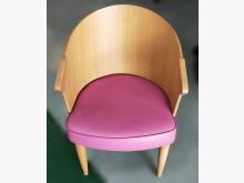 [7成新及以下] B82104*粉紅皮木餐椅*餐椅有明顯破損