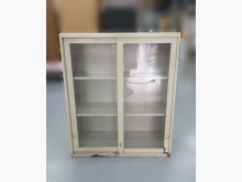 [8成新] C81604*3尺玻璃鐵櫃*辦公櫥櫃有輕微破損