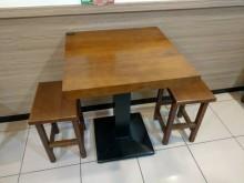 大塊柚木二尺餐桌(不含椅)餐桌無破損有使用痕跡